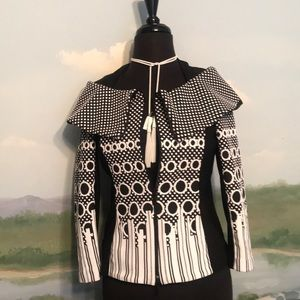 Joseph Ribkoff flattering black and white jacket